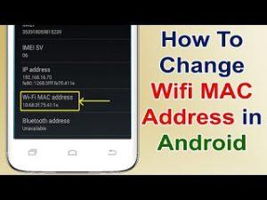 change mac adress