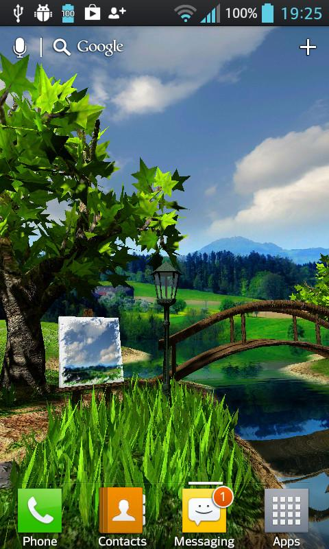 Parallax Nature Summer Day 3D Gyro Wallpaper (1)