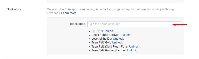 Block Facebook Apps