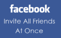 Invite All Friends to Like Facebook Page by Single Click